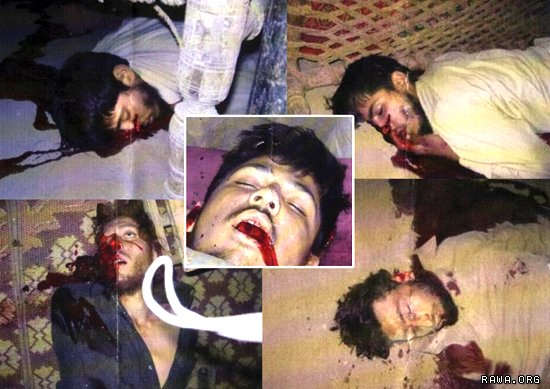 These photos are taken in the crime scene by US troops right after killing the students in Narang district.