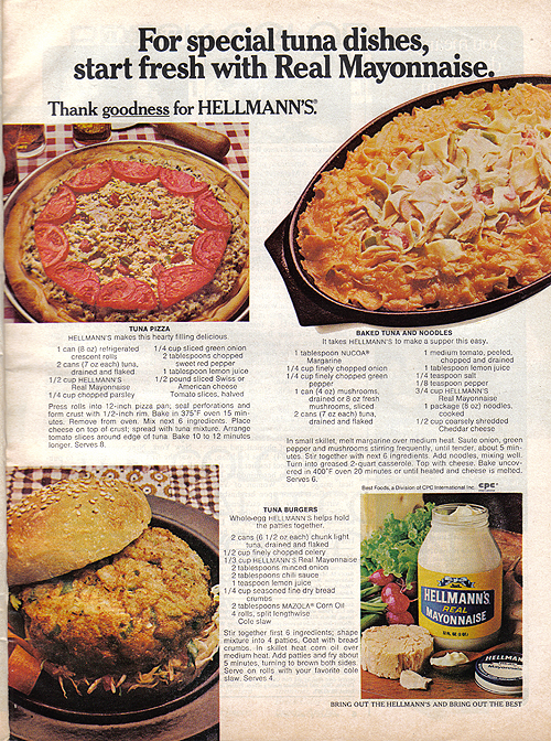 Vintage Ad #996: Special Tuna Dishes with Mayo