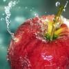 Oo.oO Splash Oo.oO (Samantha Nicol Art Photography) Tags: blue red macro art apple water fruit square nikon splash samantha tap sb800 nicol