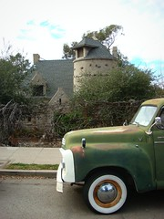 Weatherwolde Castle (Wha'ppen) Tags: california homes foothills castle vintage glendale oldtruck tujunga lacanadaflintridge lacanada stonecottage sotherncalifornia stonestructures weatherwoldecastle