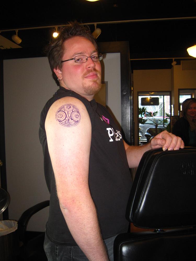 Tattoo - Stencil in place