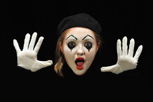 "Emily as Mime in ""Check Please"""