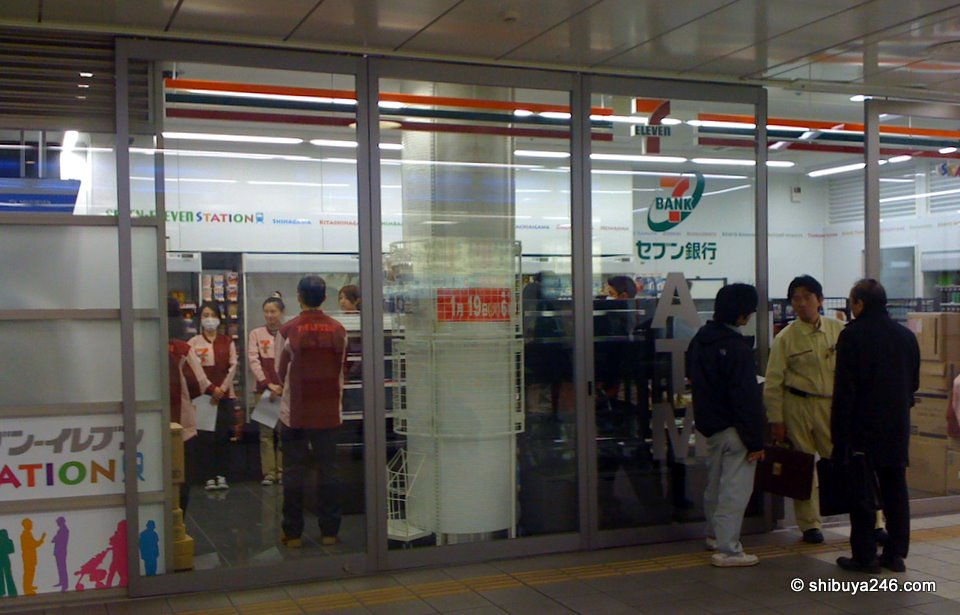 New 7-ELEVEN store opening soon near ticket gate for Keikyu Railways at Haneda Airport, Tokyo.