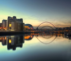 Quays (i.rashid007) Tags: uk evening sage tynebridge northumberland bluehour northeast newcastleupontyne quayside postsunset