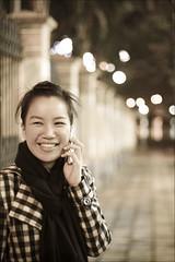 Huong (Hoang Viet) Tags: road lighting street light portrait woman girl smile face smiling lady female star women friend streetlight vietnamese chick vietnam viet gal mate dear danang huong smilingface heo