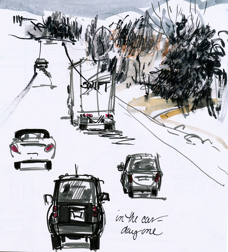 In the car series: more fast sketches