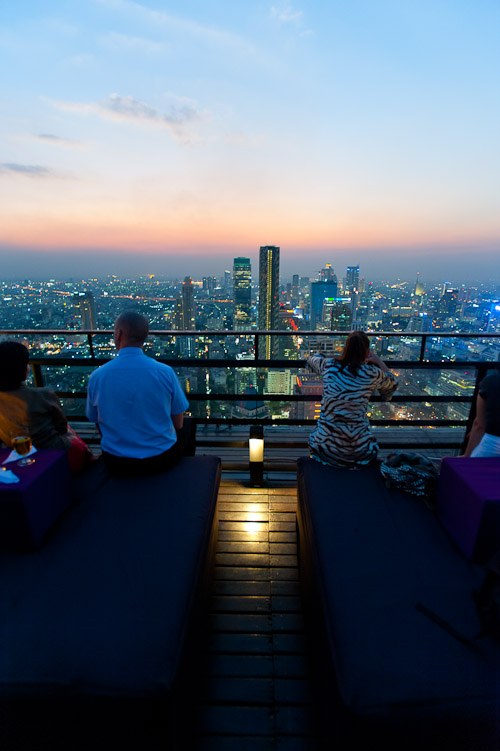View of Bangkok from the top of the Banyan Tree Hotel