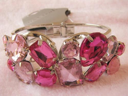 pink gem hinge bracelet