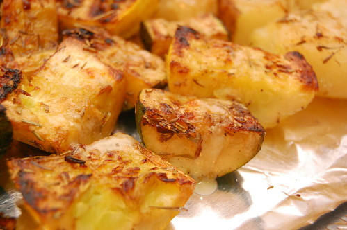 Broiled Zucchini, Yellow Squash and Potatoes, Lightly Herbed & Sprinkled with Cheese2