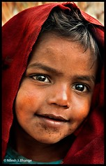 I n n o c e n c e (bnilesh) Tags: portrait india child veil innocent indore
