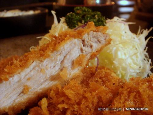 樹太老日式定食-炸豬排飯-01 炸豬排斷面秀