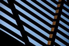 Lines (StephenReed) Tags: blue shadow sky abstract black lines metal rust nikond80