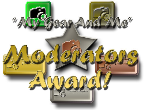 My Gear And Me - Moderators Award