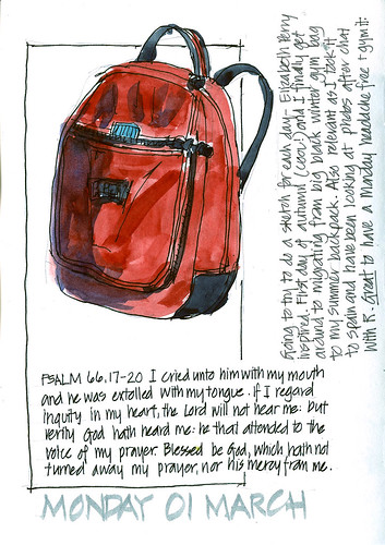 100301 A new idea, a gym bag and being thankful