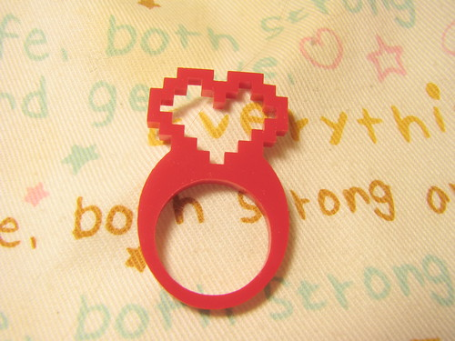 pixel heart ring