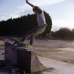 Matty Fs Feeble (RobSalmon) Tags: two colour 120 6x6 robert film me by sketchy square jack concrete fire photography one daylight hall diy fuji with shot yorkshire salmon matty rob east negative medium format mf 100 didnt sq built beverley reala sqa flashes quaters 100iso broncia