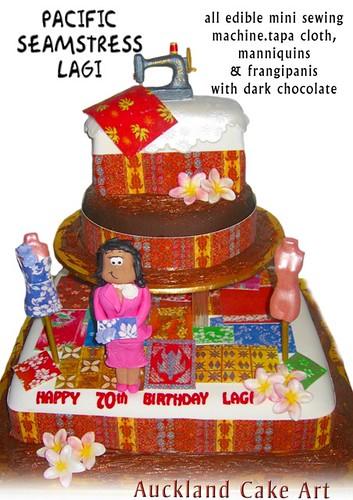 PACIFIC ISLAND SEAMSTRESS LAGI BIRTHDAY CAKE