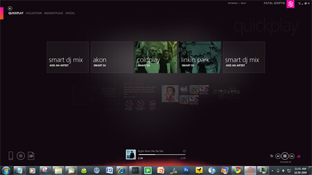 Zune 4.0 DJ screen