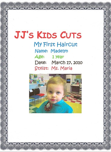 Maddie Haircut Certificate