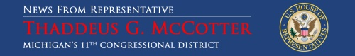 banner to promote Michigan Representative Thaddeus McCotter