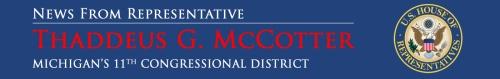 banner to promote Michigan Representative Thaddeus McCotter
