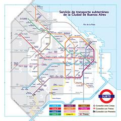 Red del subte de Buenos Aires como en londres (gac6479) Tags: de metro buenos aires londres
