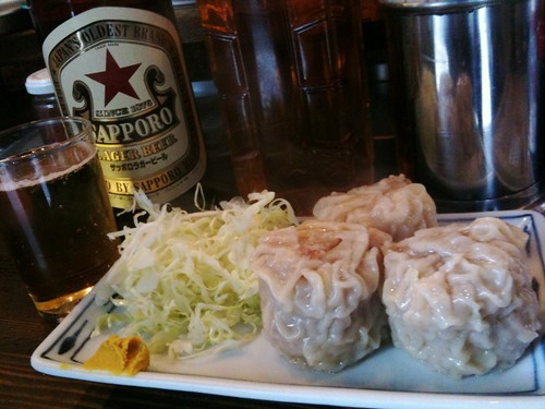 #tachinomi 念願のいせやでシュウマイと麦酒!