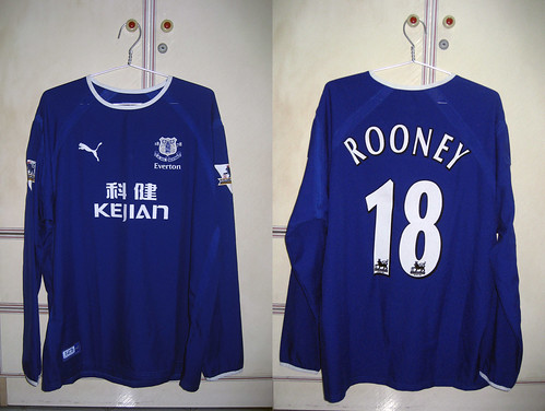 Everton 2003-2004 Home L/S (ROONEY - Player Issued)