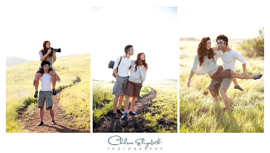 models in hiking safari commercial shoot