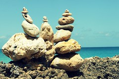 Balancing Act (The Top Hat Bandit) Tags: ocean blue sky beach mac rocks anguilla balancing act reddin edgedonkey