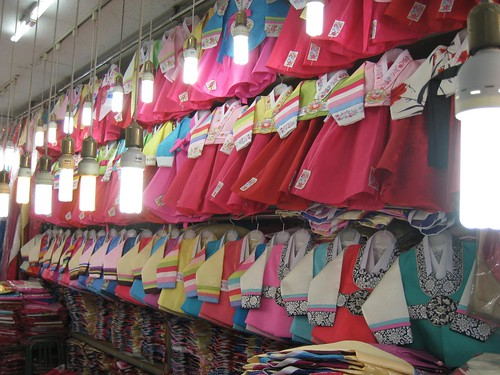 Shopping for Hazel's hanbok for her Dol
