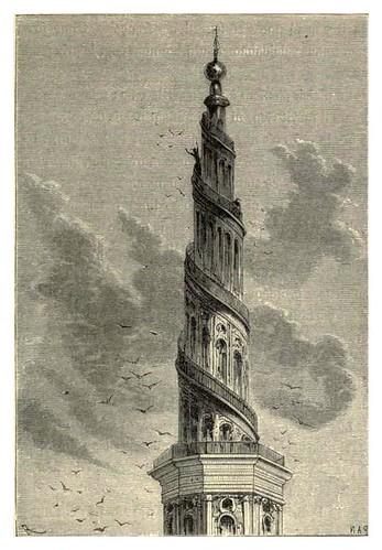 017-El campanario de Frelsers-Kirk-Viaje al centro de la Tierra-Voyage au centre de la terre-ilustrado por Edouard Riou
