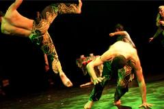 Publikum fikk en oppvisning i Capoeira før forestillingen startet.