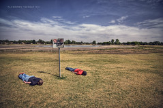 137/365  Facedown Tuesday VIII (Erich Leeth) Tags: lake face field grass sign clouds swimming high nikon dynamic no down tokina drought tuesday 365 range hdr highdynamicrange noswimming laying layingdown facedown photomatix project365 1116mm d300s facedowntuesday