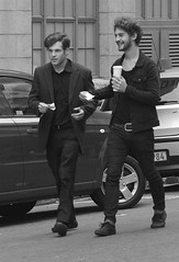 walk n talk (Ren van Huyssteen) Tags: black coffee gangsters morrissey bighair mob jamesdean blacksuit 2guys mobboss