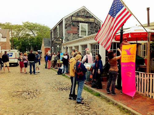 The scene outside the Starlight Theater on Nantucket before our @obliquesector movie premier. #NFF2011 by BradKellyPhoto
