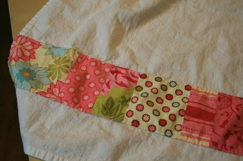 patchwork tea towel