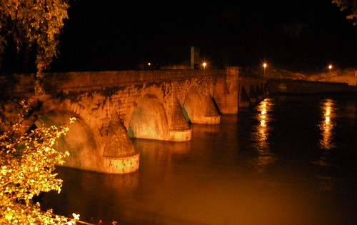 The Drina Bridge At Night