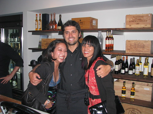 Me, Ludo, Caroline on Crack at Domaine LA Wine Shop Opening (Krissy behind the camera)
