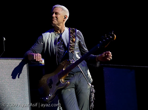 Adam Clayton in Las Vegas - photo by Ayaz Asif