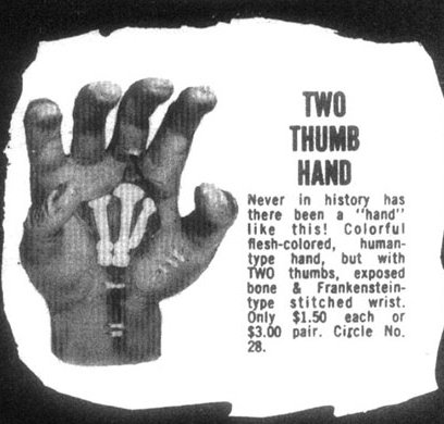 mano con dos pulgares