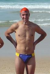 Lifeguard on Bondi Beach NSW Australia (CAHairyBear) Tags: man men beach bondi australia guys newsouthwales bondibeach speedos homme lifeguards lifesavers bathers hom