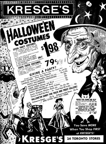 Vintage Ad #946: Hallowe'en Costumes at Kresge's