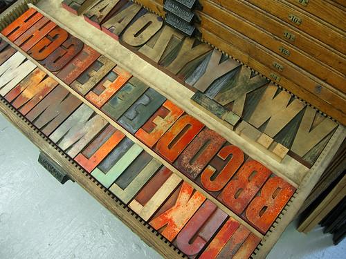 Gothic Wood Type