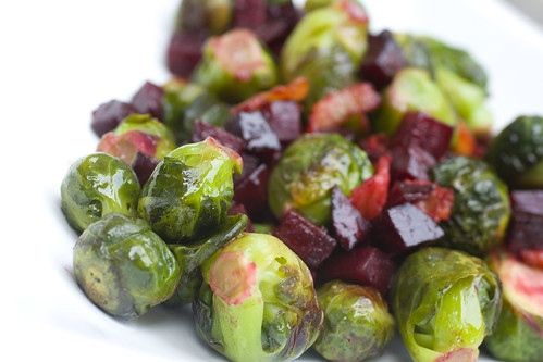 Bacon, Beets, and Brussles Sprouts 3