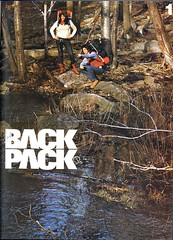 1 (petercat.harris) Tags: camping water forest vintage reeds magazine typography boot 1 back sweater weeds stream boots sweaters hiking scan retro backpacking type 70s 1970s backpacker 1973 packer sansserif