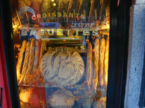 Sección de panadería desde el exterior