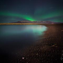 glow (Mill Master) Tags: ocean longexposure mountain beach landscape lights iceland glow horizon pad esja northern reykjavík northernlights auroraborealis 2007 nothernlights dalla nightimage reykjavk 44365 salbjorgritajonsdottir auraoraborealis