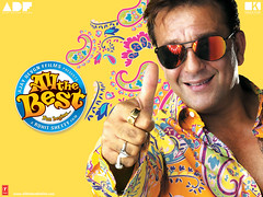 [Poster for All the Best with All the Best, Rohit Shetty, Sanjay Dutt, Ajay Devgan, Fardeen Khan, Bipasha Basu, Mugdha Godse]
