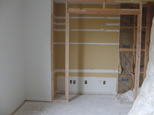 This will be a closet where a crappy built in desk used to be.